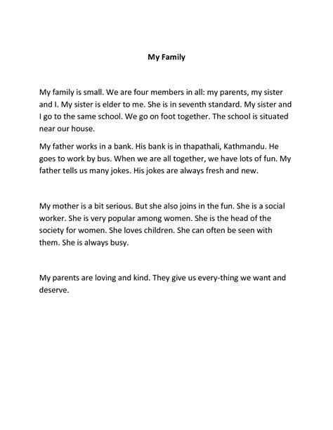 Model Essay On Parents by Model Essay On Parents Bamboodownunder