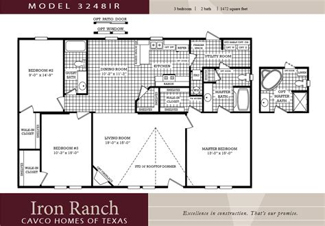 Lovely Mobile Home Plans Double Wide 6 3 Bedroom 2 Bath 2 Bedroom House Plans One Level Doublewide