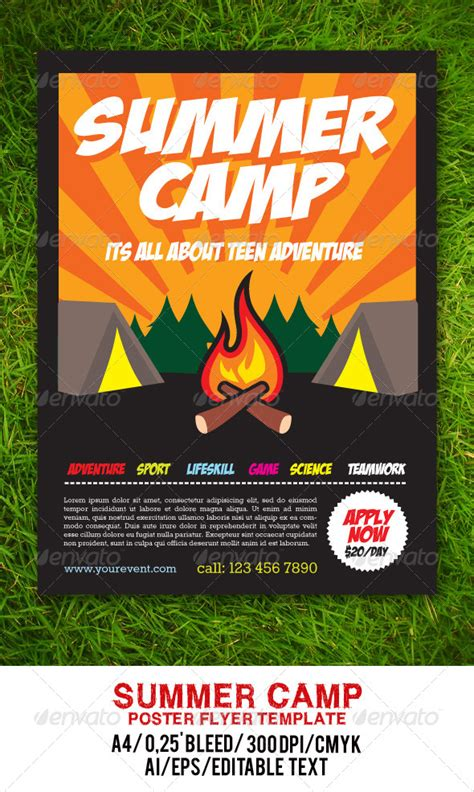 Summer C Flyer Graphicriver Outdoor Flyer Template