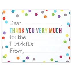 fill in the blank thank you notes for confetti polka dot flat card and ebay