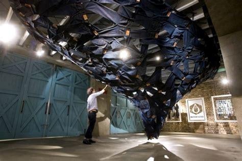 installation of modern art � swirling water levis jeans