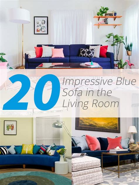 impressive blue sofa   living room home design lover
