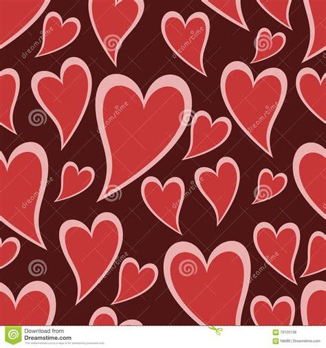 seamless pattern heart seamless pattern heart pink background stock vector