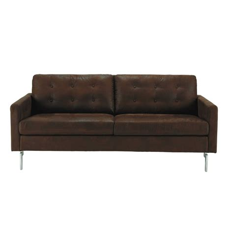divani similpelle divano marrone in similpelle 2 3 posti victor maisons du