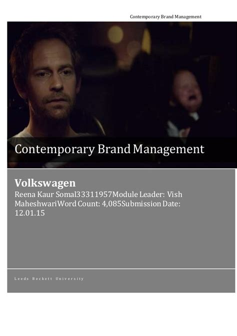Contemporary Brand Management contemporary brand management assignment