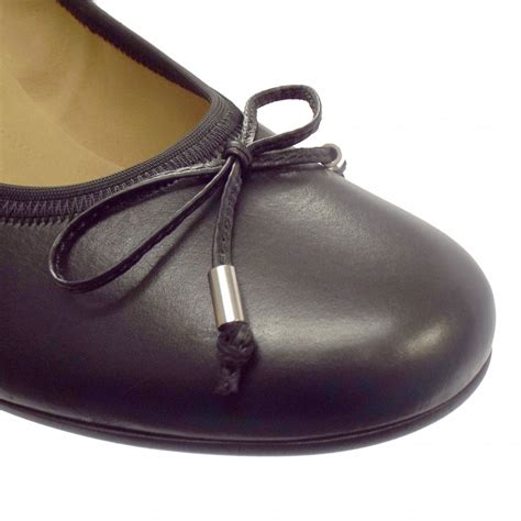 gabor shoes melton black leather mid heel shoe