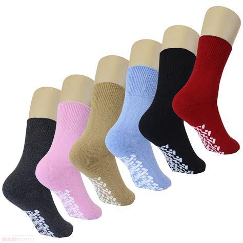slipper socks for diabetic non skid slipper socks w grippers for 6