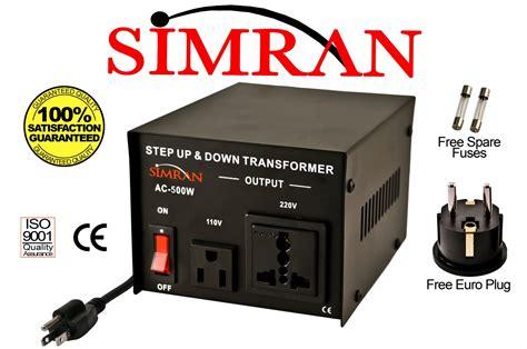 Jual Conventer 220v To 110v simran ac500w 500 watt step up voltage converter