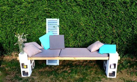 Fabriquer Un Banc De Jardin by Banc De Jardin Fabriquer Banc En Bois Et Parpaings