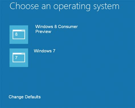 how to choose windows choose another operating system while using windows 8