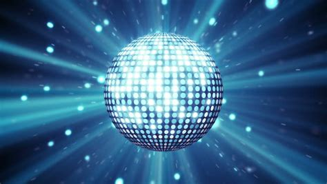 blue disco ball shining computer generated seamless loop