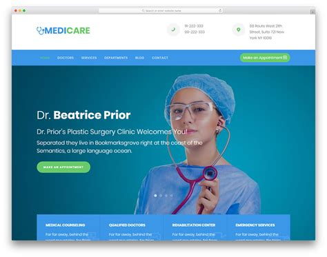 Bootstrap Templates Free For Hospital