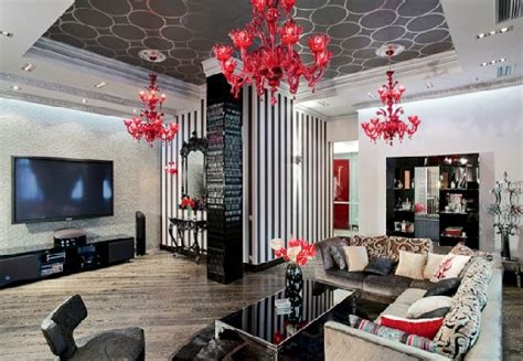 ceiling decoration glamorous apartment interior design