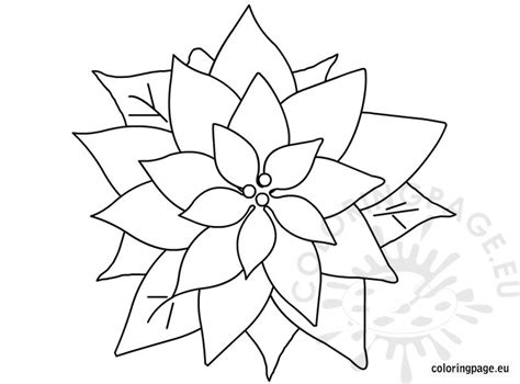 coloring page christmas flower decorations for christmas coloring page