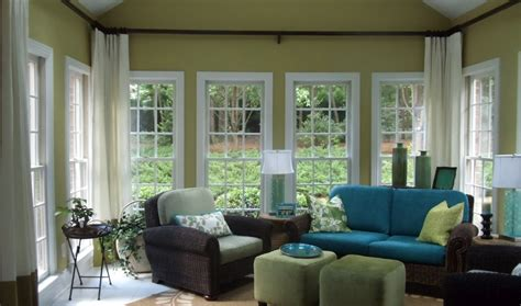 Windows Without Blinds Decorating Sunroom Makeover On My List The Higher Curtain Interior Design Ideas Window Treatments