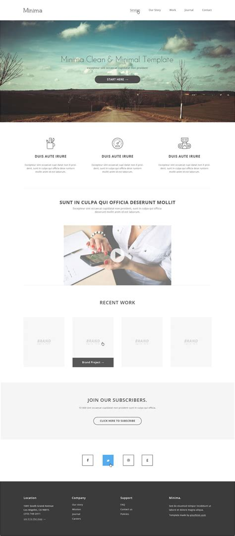 Minima Minimalist Html5 Website Template Free Download Programmer Personal Website Template