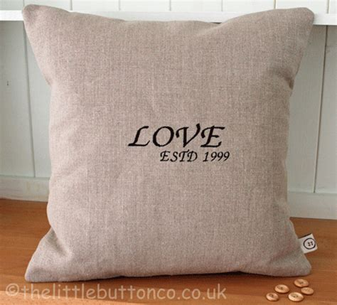 love cusion personalised love cushion the little button co
