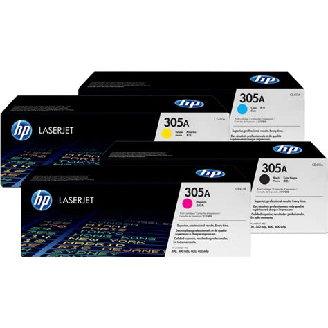 Toner Hp 305a Yellow hp 305a original color laserjet toner set of black cyan