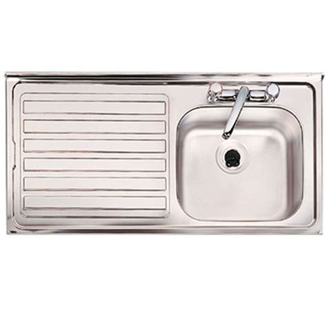 single stainless steel sink clearwater contract bs 2 tap single bowl stainless