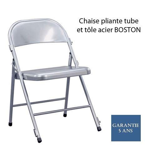Chaise Tole by Chaise Pliante Et T 244 Le Acier Boston Avec Syst 232 Me De