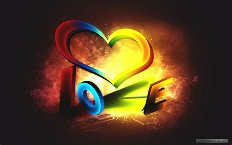 wallpaper for mobile colorful love 3d colorful love wallpaper hd wallpapers images pictures