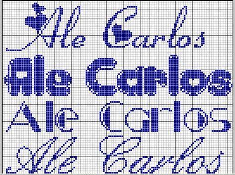 lettere corsive punto croce nomi con il punto croce foto 40 41 tempo libero