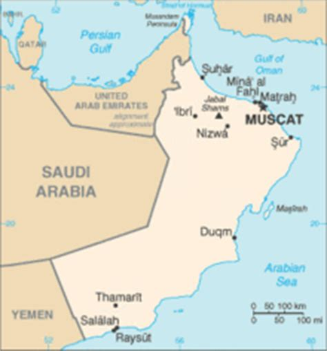 map of oman with cities list of cities in oman