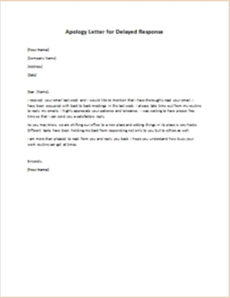 Apology Letter To For Late Reply Apology Letter For Delayed Response Writeletter2