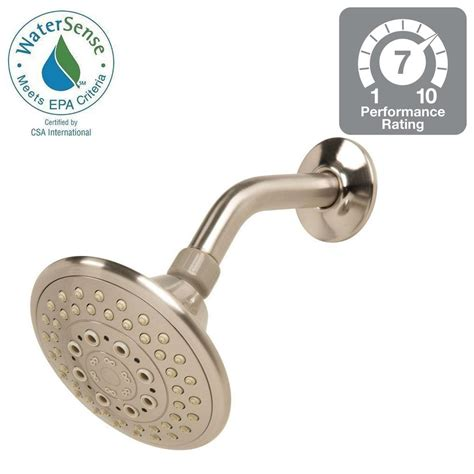 Glacier Bay Shower by Glacier Bay 5 Spray 5 In Fixed Shower In Brushed