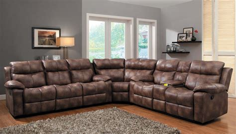 Sofas With Recliners Homelegance Heights Reclining Sectional Sofa Set Polished Microfiber U9635pm Sect