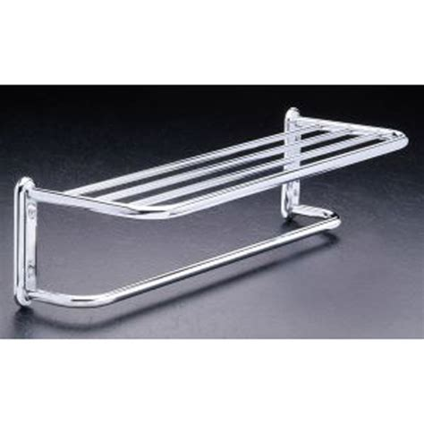 Chrome Bathroom Shelves For Towels Hotel Style Towel Shelf And Rack Chrome In Wall Towel Racks