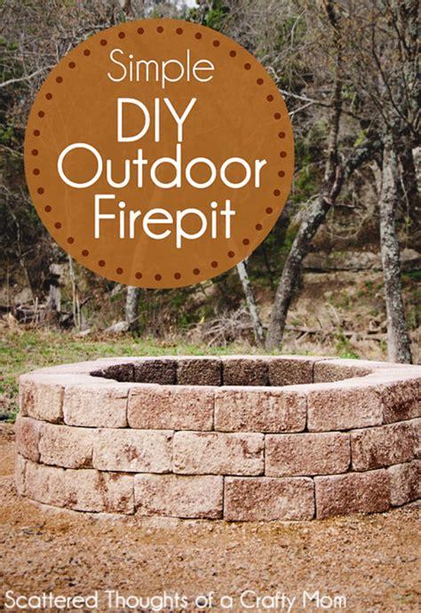 diy outdoor fireplace  firepit ideas