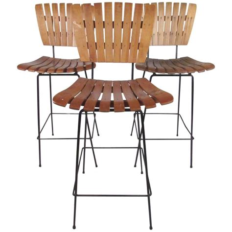 arthur umanoff style bar stools set of three arthur umanoff style bar stools for sale at