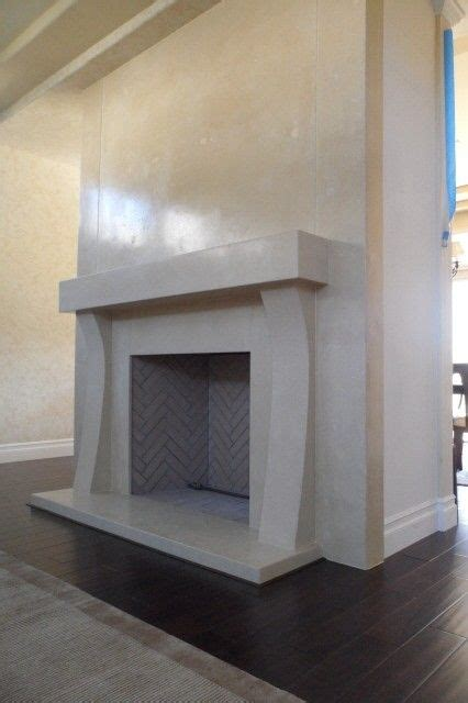 hand  concrete fireplace surround  stonenv custommadecom