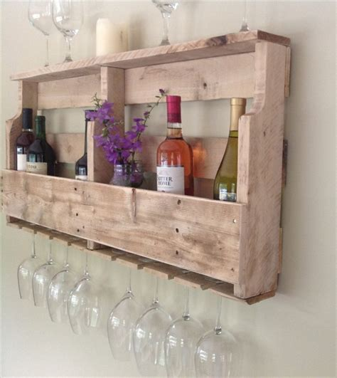 diy pallet wine rack shelf wooden pallet furniture
