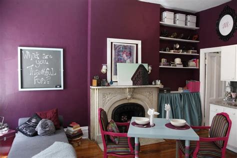 plum colors for bedroom walls shade of plum for walls in a tiny new york apartment