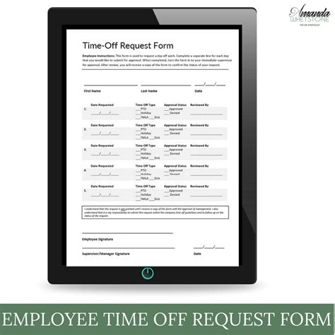 elegant time off request form template best templates