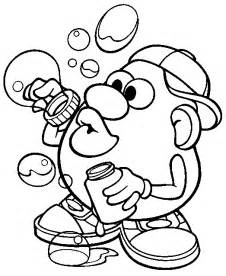 mr potato coloring page mr potatohead coloring page mr potato bubbles