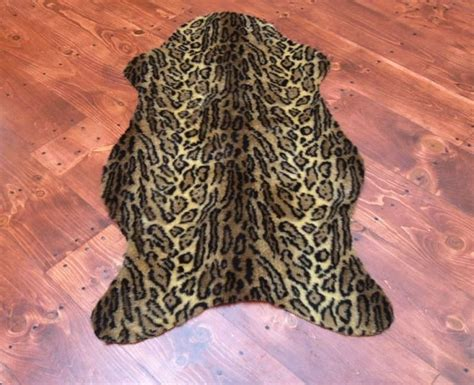 faux leopard skin rug faux leopard skin rug large other