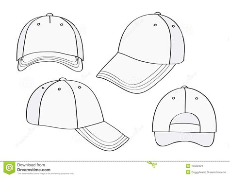 18 Blank Baseball Cap Template Images Baseball Cap Blank Template Baseball Hat Design Hat Template
