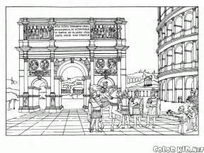 architecture coloring book coloriage arc de triomphe et le colis 233 e