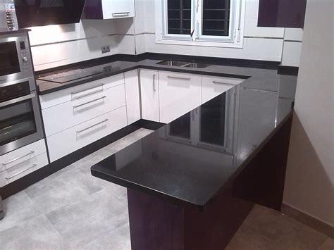 imagenes encimeras negras encimeras de cocina m 225 rmoles y granitos mart 237 n