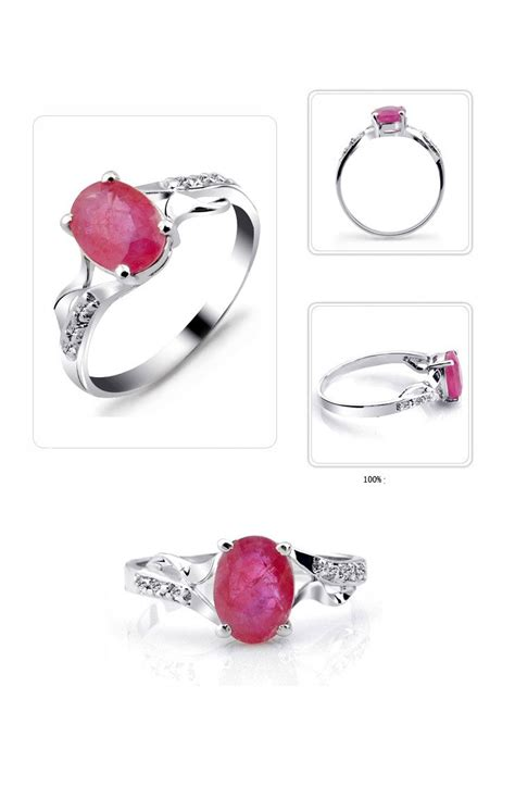 ruby 3 3crt 1 3 carat ruby gemstone engagement ring on silver jeenjewels