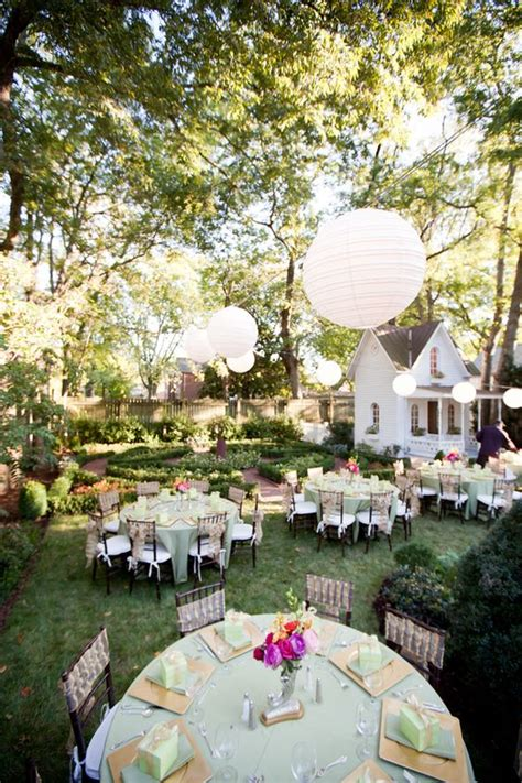 gardens receptions and backyard wedding receptions on