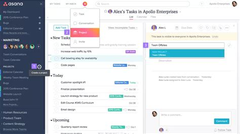 Trello Vs Asana The Best Project Management App Asana Template Exles