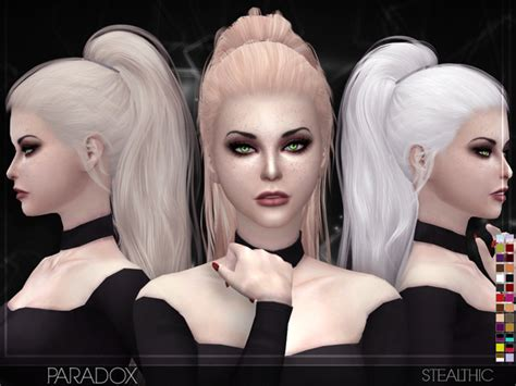 the sims 4 hair cc stealthic paradox female hair sims 4 updates