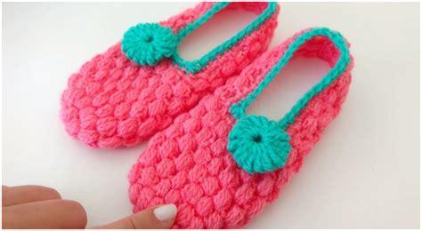 beautiful slippers crochet beautiful slippers puff stitch ilove crochet