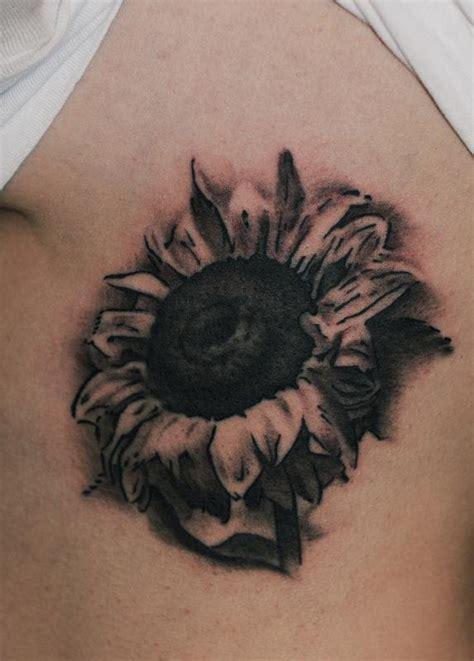 55 Latest Realistic Sunflower Tattoos Realistic Black And Grey Flower Tattoos