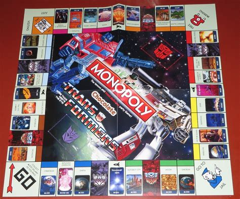Monopoly Transformers transformers monopoly chocolate edition transformers