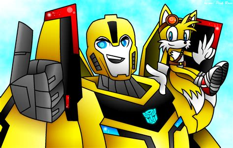 boom on bumble tails sonic boom and bumblebee tf rid by carueniiju on